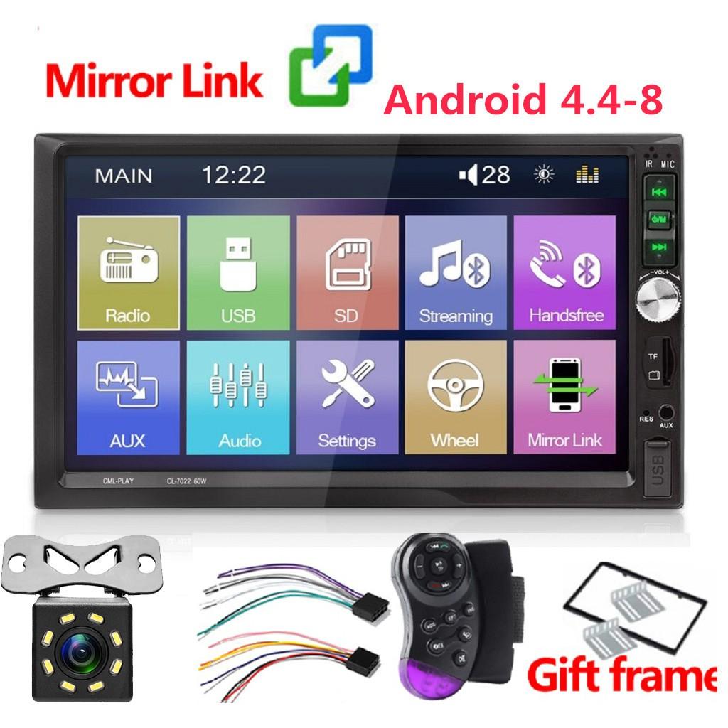 7 inch 2 Din Car Radio Stereo 1024*600 Bluetooth USB MP5 player