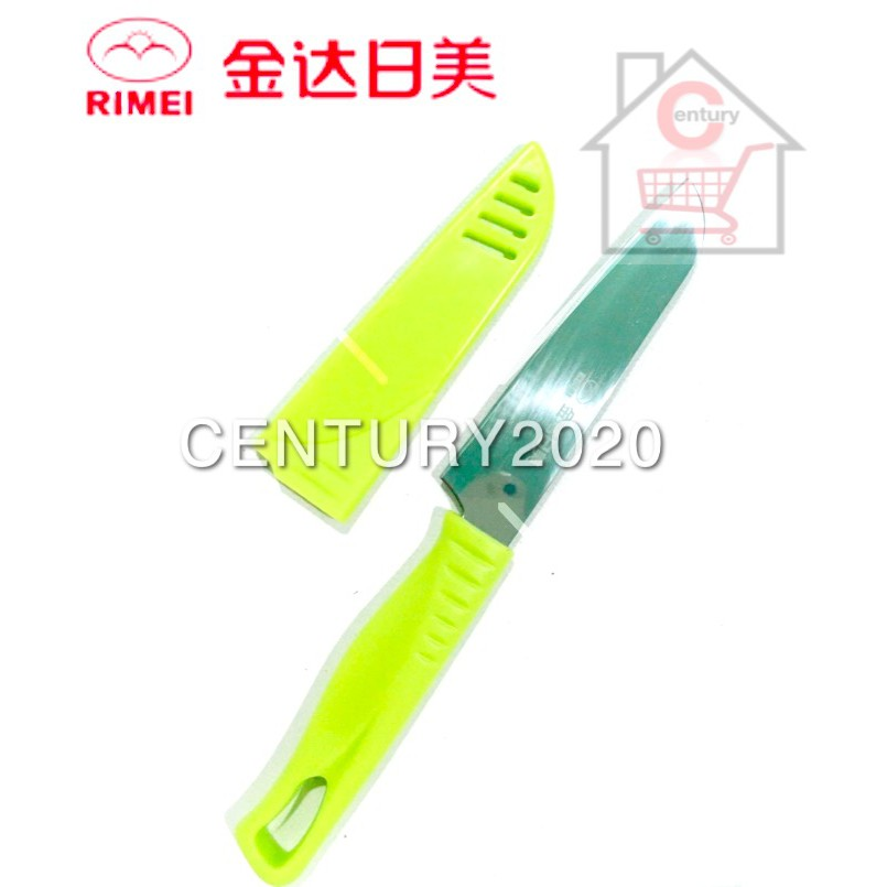 RIMEI Fruit Knife Kitchen Portable Fruit Knife With Cover Kitchen Tools 5129