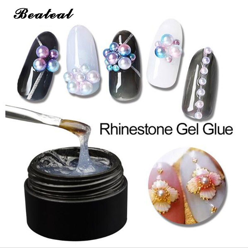 Super Sticky Rhinestone Gel Glue UV Gel Nail Polish Nail Art Decoration  Tools  bc191bd8dc2e