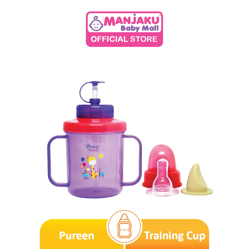 Pureen 3-In-1 Training Cup 180ml - Assorted Colours