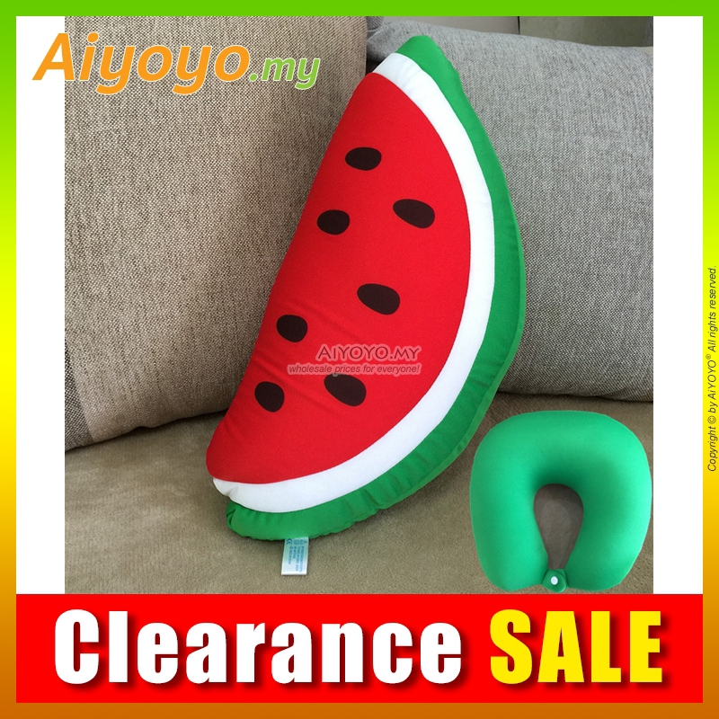 Watermelon Pillow 40CM Stuffed Plush Soft Toy Teddy Bear Toys U-Shape Cushion