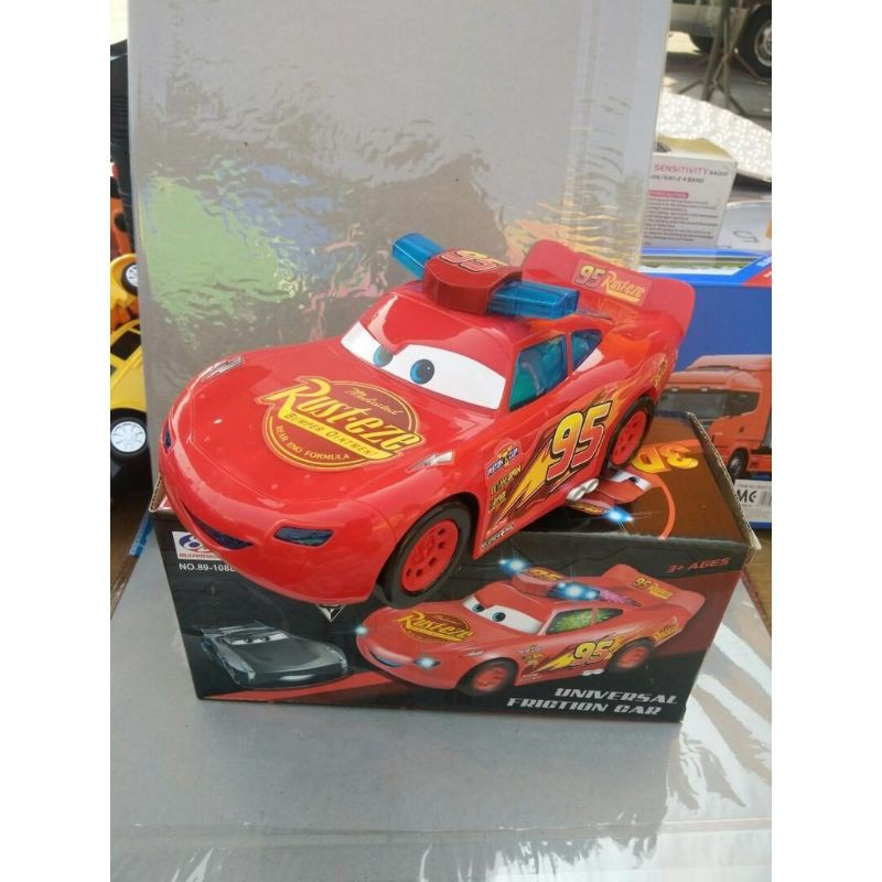 Friction bump and go car Car with 3D colourful lights and music car  Racer battery type cars