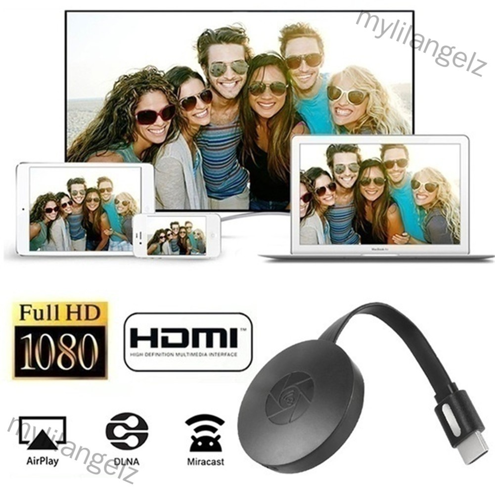 Mylilangelz WiFi Wireless Display Dongle for Wireless HDMI Adapter Portable TV Receiver Airplay Dongle Mirroring Screen