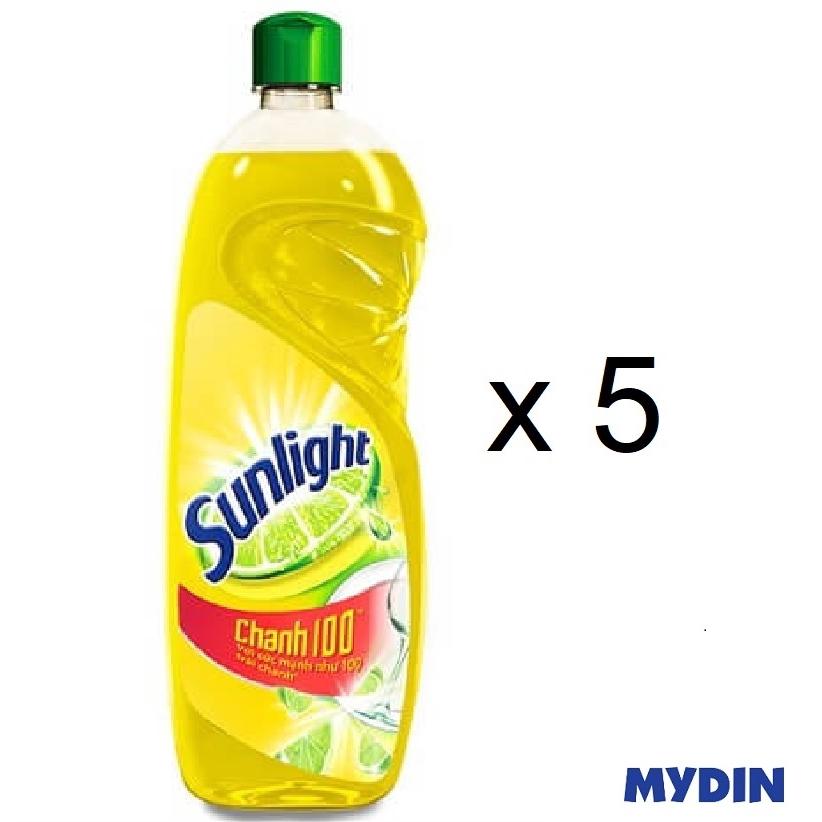 Sunlight Lime Dishwashing Liquid with Lemon Extract CHANH100 (386ml x 5)