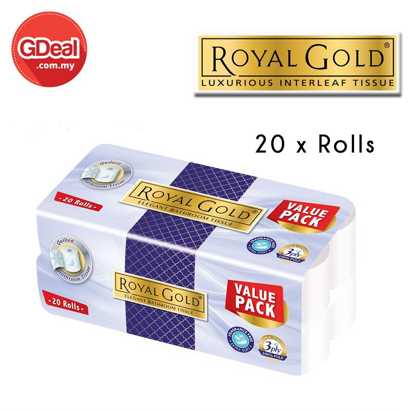 GDeal Royal Gold Elegant Toilet Paper (220's x 20 Rolls)