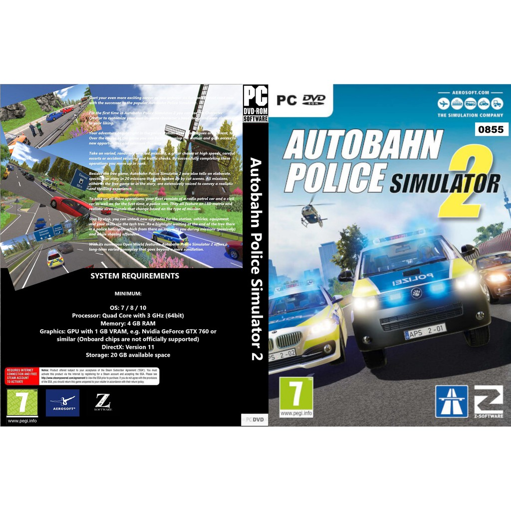 Pc Autobahn Police Simulator 2 Shopee Malaysia