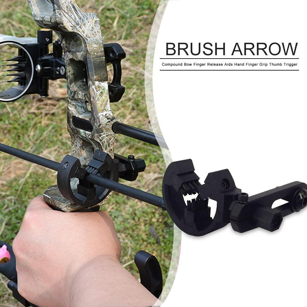 3Pcs Black Arrow Rest Brush Replace Brush Capture Arrow Rest For Compound Bow