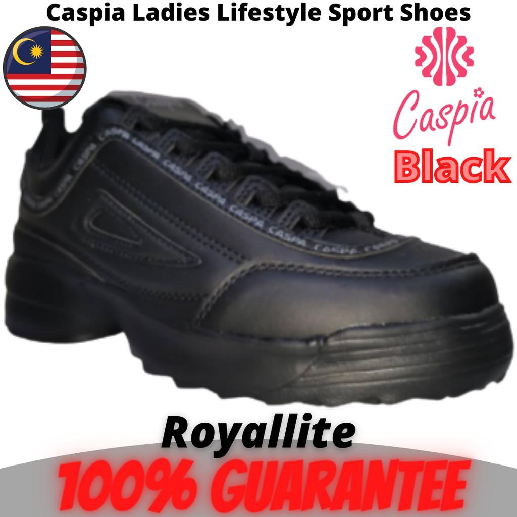 CASPIA LADIES Lifestyle SPORT SHOES THICK FOOT (129-178) Black & Beige