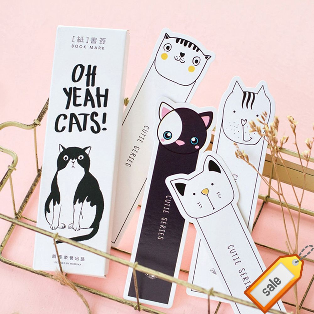 Stationery Cat Ass Bookmarks School Supplies Cartoon Animal Style Book Markers