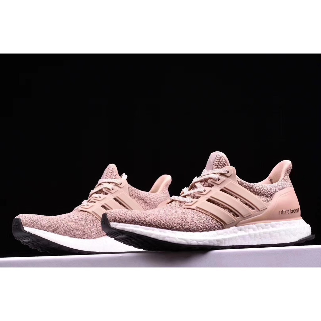 822b64f733310 100% Original Adidas ULTRABOOST 4.0 Mens womens Running shoes Pink kasut  berlari