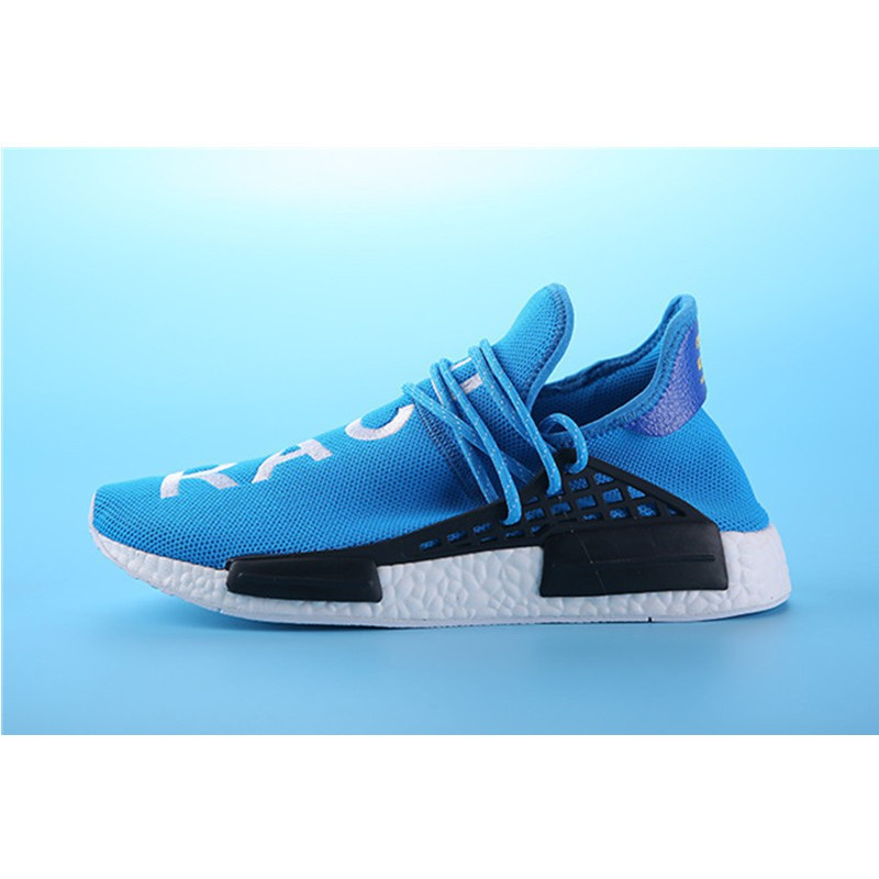 more photos d6868 9a780 Pharrell Williams Shoes x Adidas NMD Human Race blue white