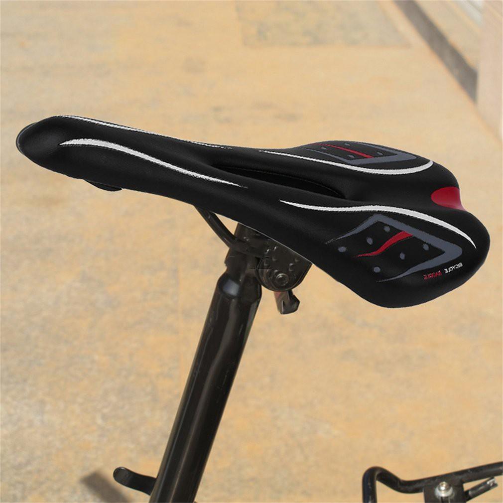 road Mountain XC Bike TT Hollow Racing Seat Saddle Cushion Pad PV leather Black
