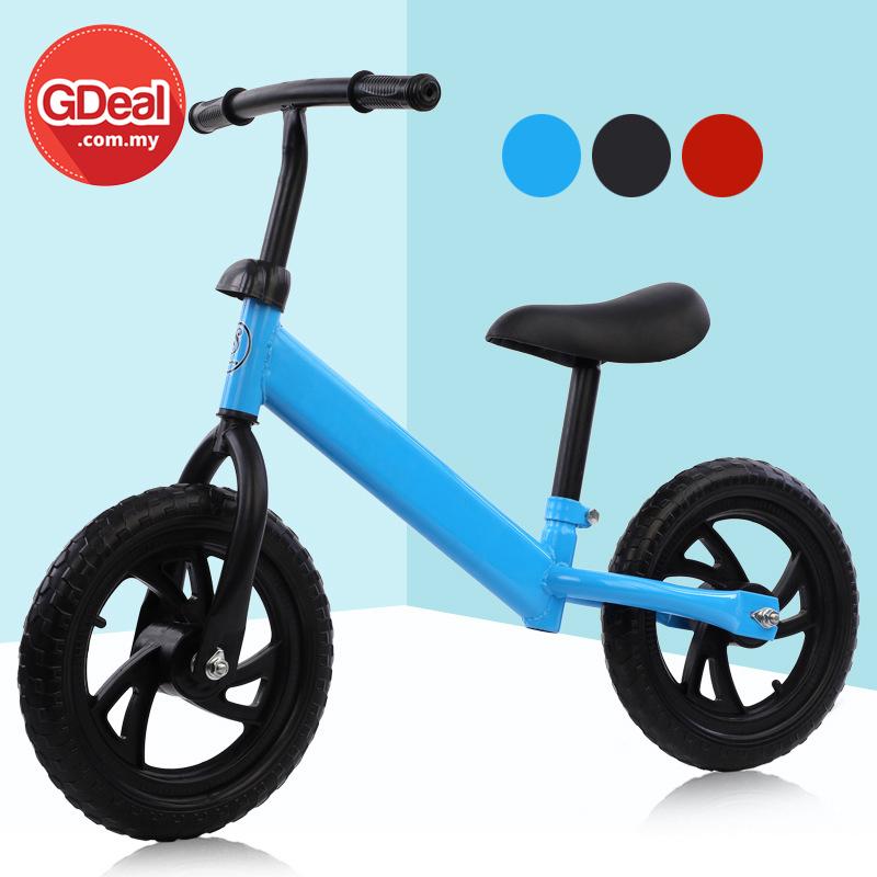 GDeal Children Two Wheel Balance Bike Kids Indoor Outdoor Lightweight Tricycle Basikal باسيكل