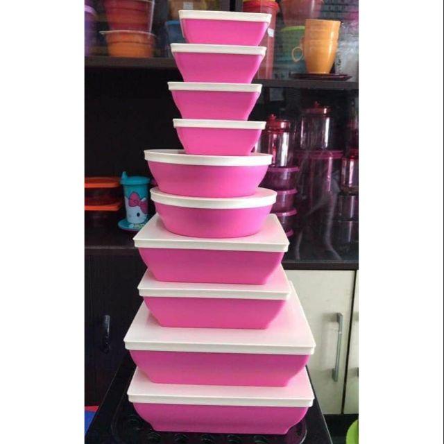 Tupperware Inchigo Complete Set (10pcs)