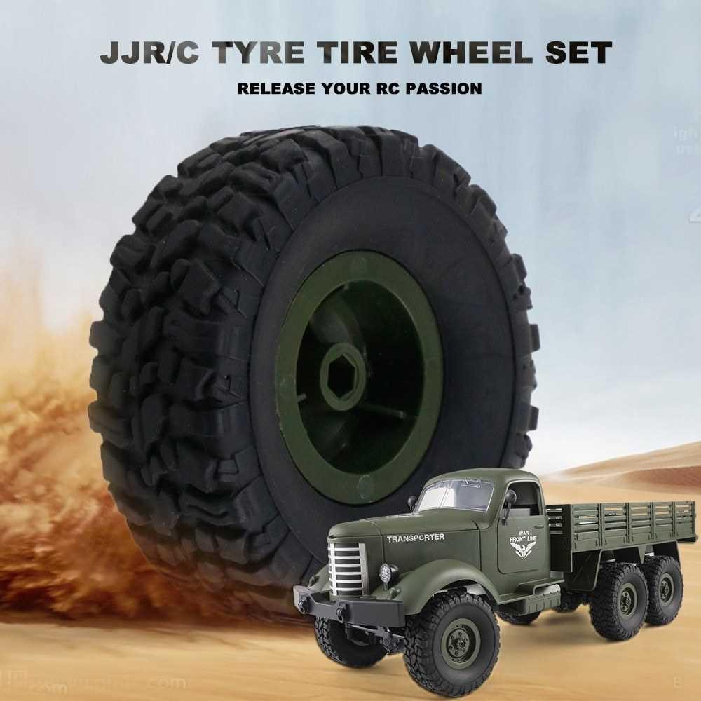 JJR/C Tyre Tire Wheel Set for Q60 Q61 1/16 2.4G RC Off-road Crawler Military Truck Army Car (Gr3)