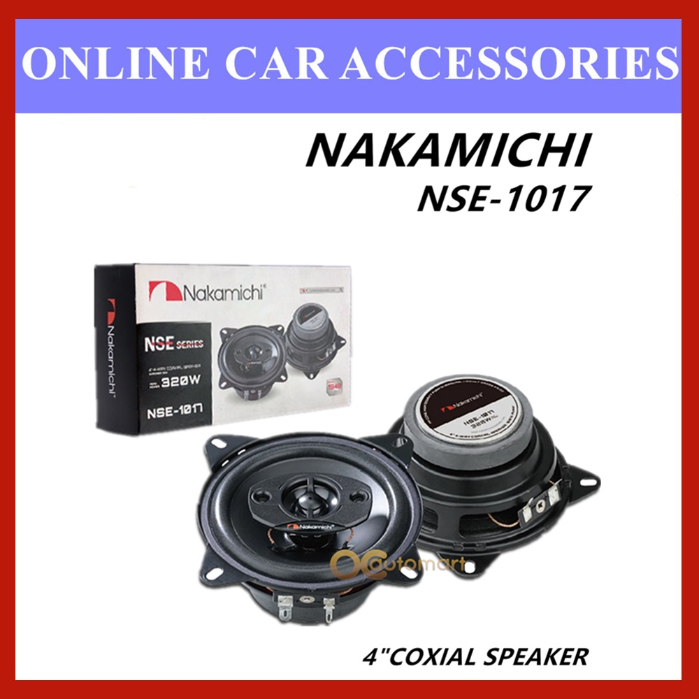 "Nakamichi 4 Way NSE-1017 4"" Coaxial Car Speaker 320 Watts"