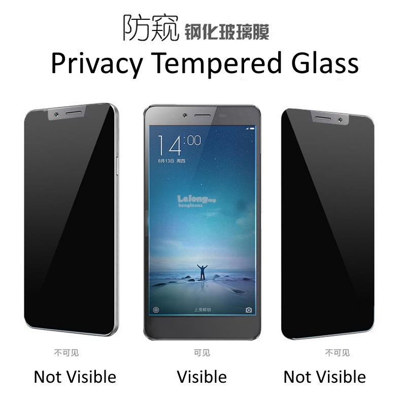 [Privacy] Vivo Y21 Y51 Y53 Y55 Y65 Y66 Y69 Y71 Y81 Y91 Privacy Anti Spy  Screen Protector Tempered Glass