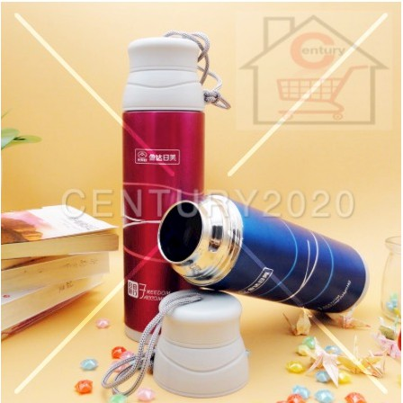 RIMEI Vacuum Sport Bottle Thermal Flasks & Containers with Rope Stainless Steel Vacuum Sealed Insulated Flasks Bottle
