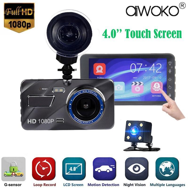 4.0/'/' HD 1080P Touch Screen Dual Lens Car DVR LCD Dash Cam Night Vision G-sensor