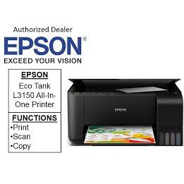 EPSON ECOTANK L3150 PRINT SCAN COPY WIFI ALL IN ONE WITH ORIGINAL INK