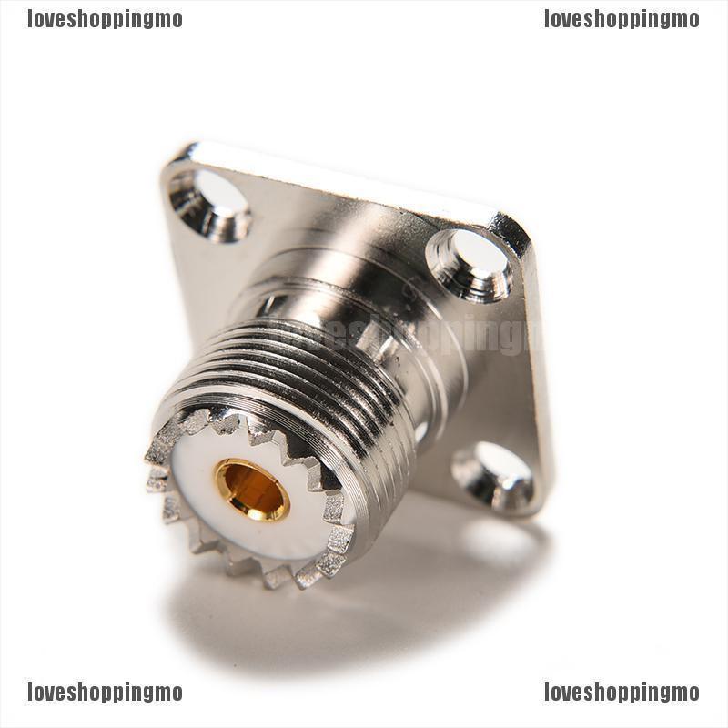 10Pcs Connector SO239 UHF Female Jack 4-Hole 25mm Flange Solder Panel Mount SS