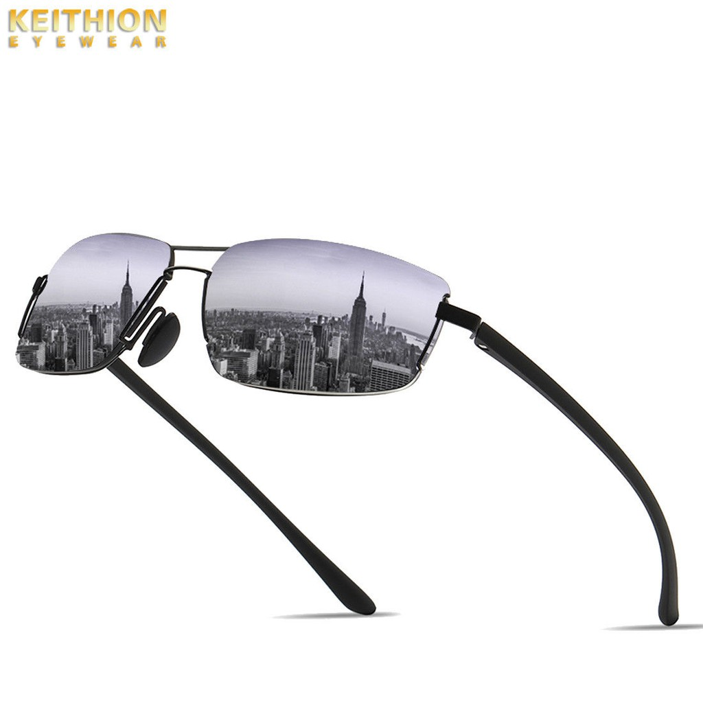 KEITHION TR-90 Polarized Sunglasses Mens Oversized Glasses Round Driving Eyewear