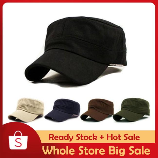 25a4ecbe62 ◤Beauart◢Classic Vintage Army Military Cadet Style Cotton Cap Hat Adjustable