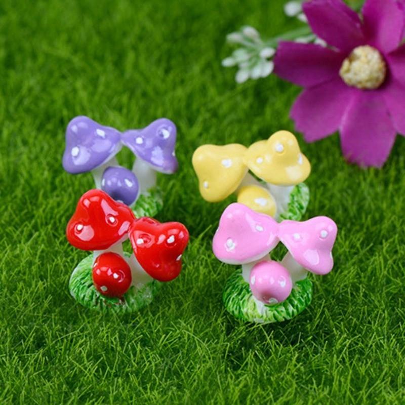 30*Mini Mushroom Miniature Fairy Moss Terrarium Resin Craft Garden Decoration