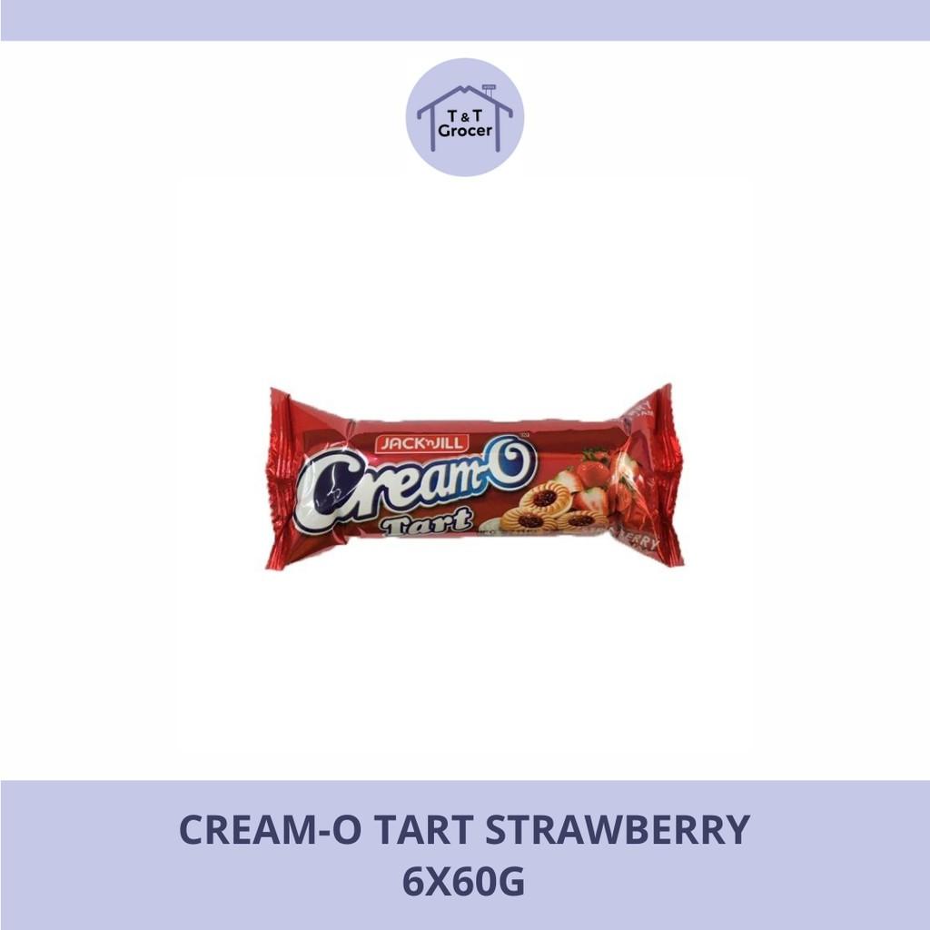 Cream-O Tart Strawberry 140g - 6x60g