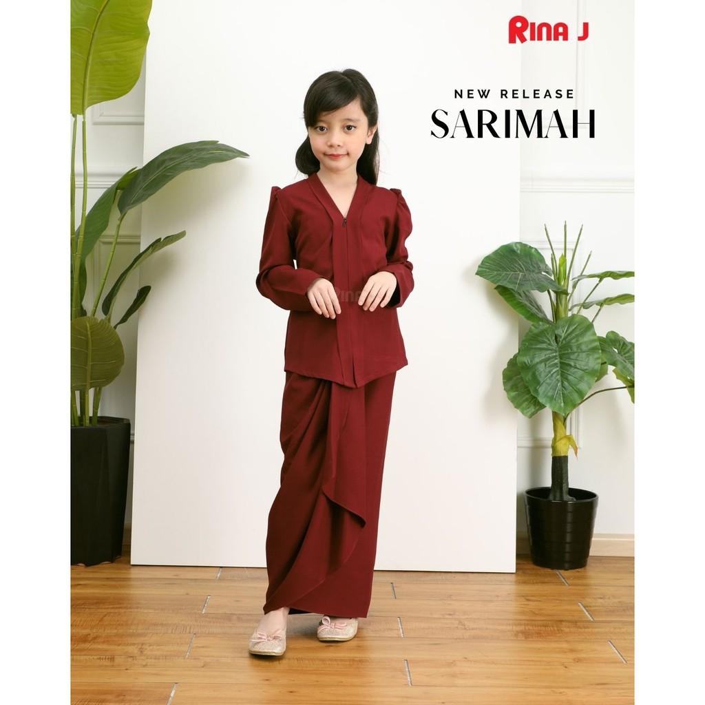 [READY STOCK] SARIMAH KEBAYA BUDAK 𝗦𝗘𝗧 𝗡𝗢.𝟭 Baju Kebaya Budak Baju Kebaya Plain