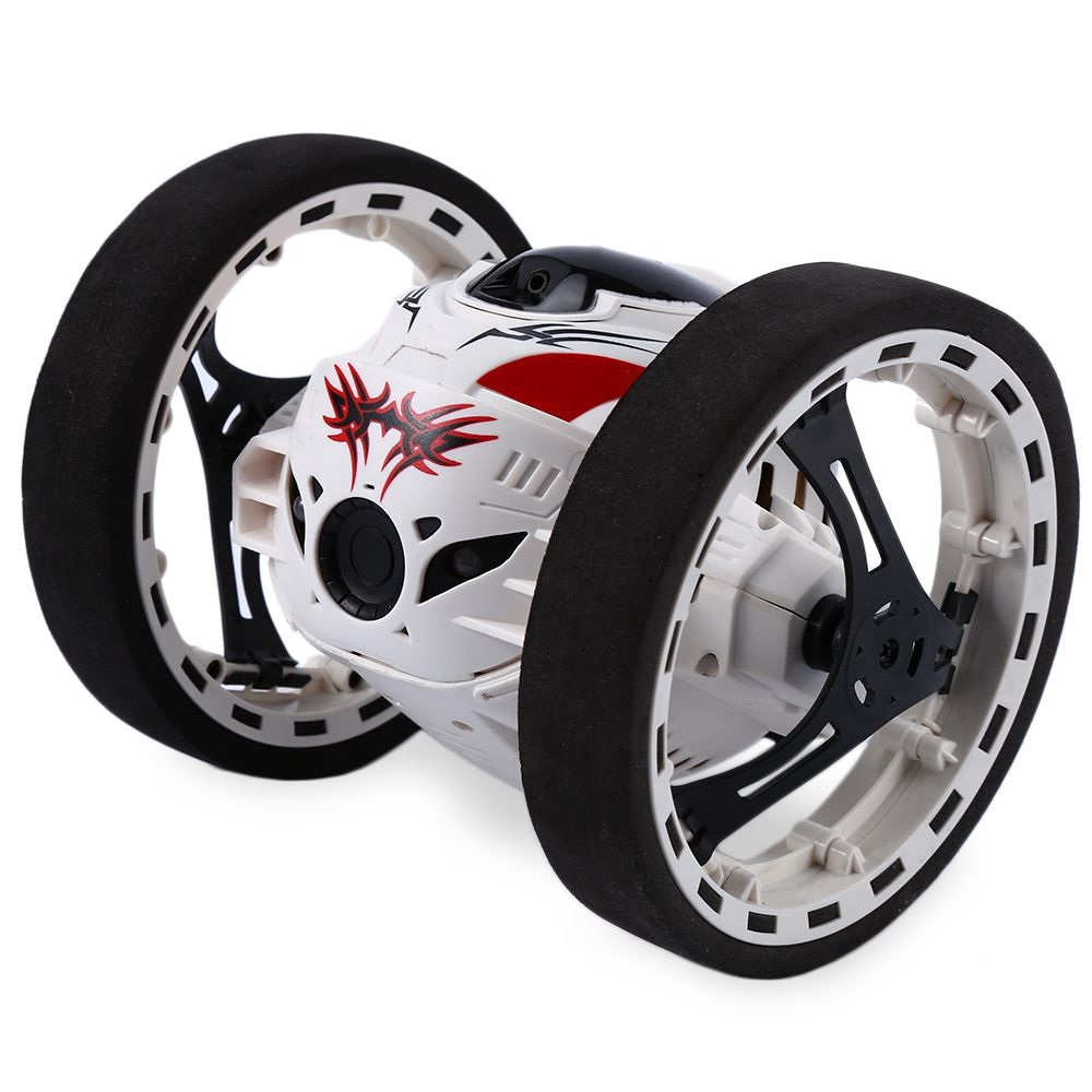 2.4G REMOTE CONTROL JUMPING CAR 2 SECOND ROTATION BOUNCE RC TOY (WHITE)