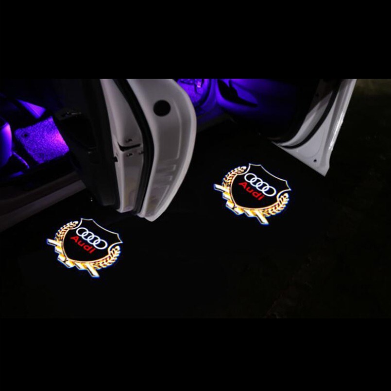 LED Projector Door Shadow Welcome Light Laser Emblem Logo Kit Lamps for All Cars 419 4PCS Universal Wireless Car Projection