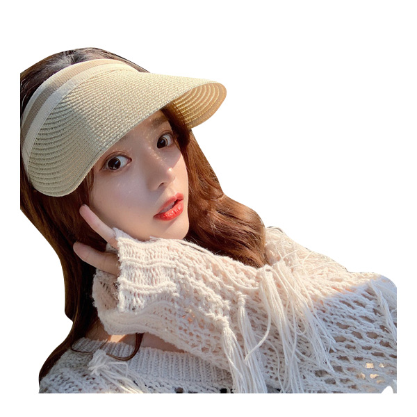 หมวกฟางแฟชั่นสไตล์เกาหลี ลายถัก
