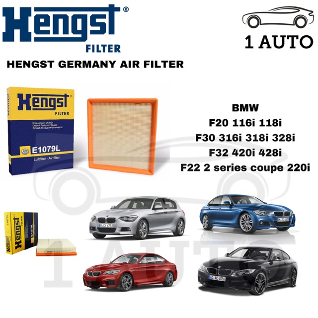 HENGST GERMANY AIR FILTER BMW F20 116i 118i F30 316i 318i 320i 328i F32  420i 428i F22 220i N13 B38 N20