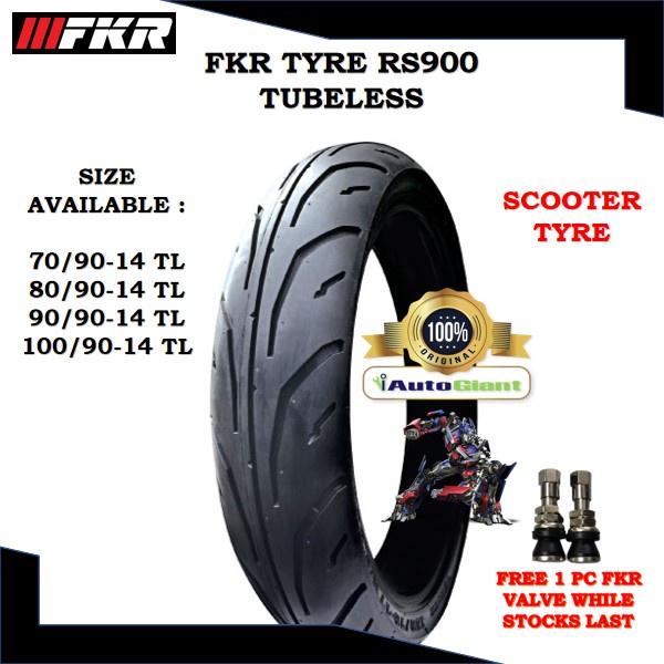 FKR TAYAR RS900 TUBELESS - (100% ORIGINAL) 70/90-14, 80/90-14, 90/90-14, 100/90-14, 120/70-14, 140/60-13
