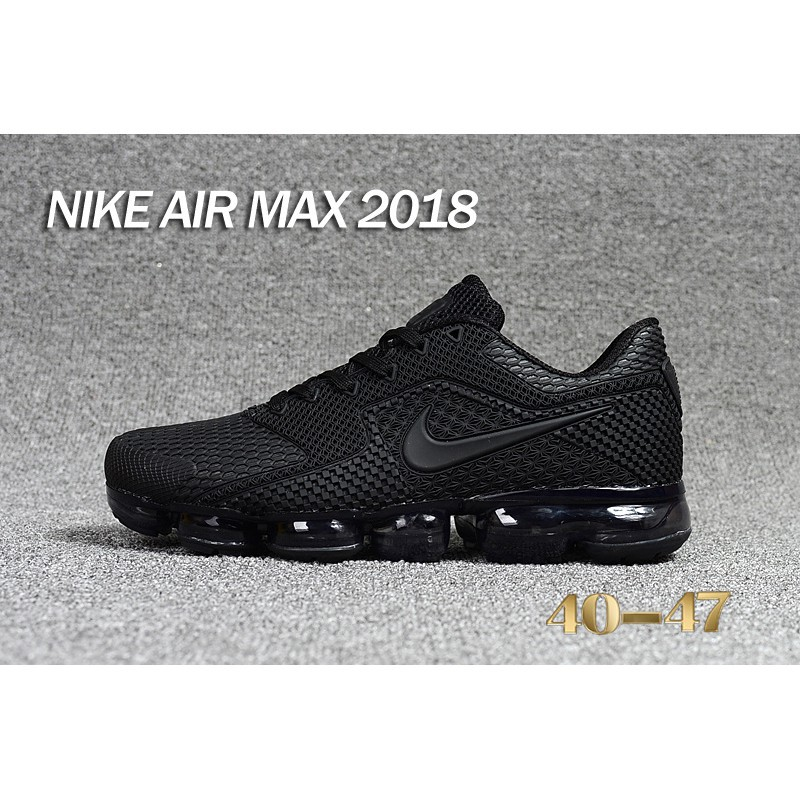 size 40 c805d f6558 SHIPPING🔥Nike Air VaporMax 2018.5 Sneakers Black Men Running Shoes Size  40-47