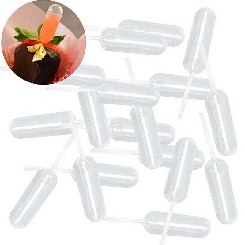 1-100Pcs 4ml Clear Plastic Transfer Pipettes Disposable Cupcake Squeeze Dropper