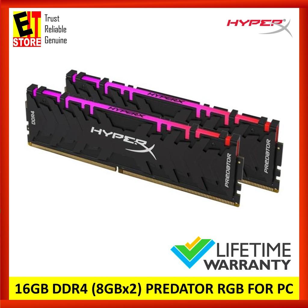 HYPERX PREDATOR RGB 16GB DDR4 3600MHz (8GB x 2) DIMM Kit (HX436C17PB3AK2/16)