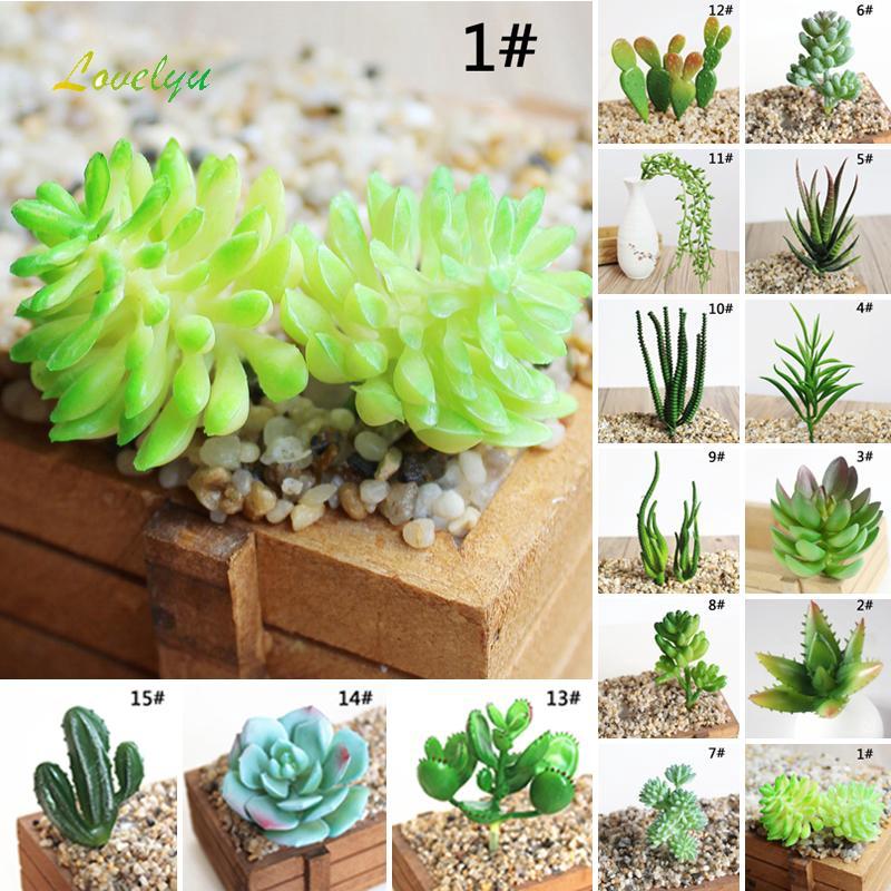 Artificial Succulents Plastic Plant Fake Cactus Floral Garden Homes Office Decor