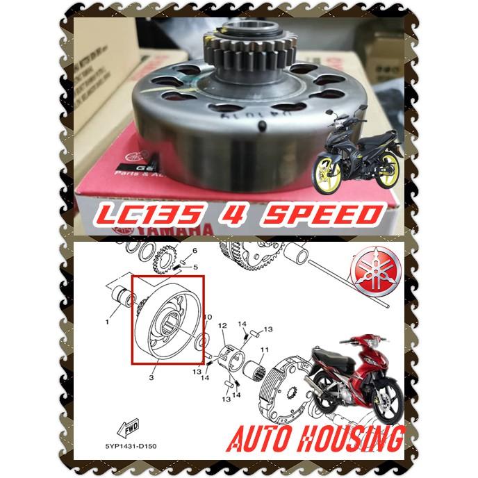 100% ORIGINAL HONG LEONG YAMAHA LC135 4S 4 SPEED ENGINE ENJINE ENJIN CLUTCH AUTO SHOE HOUSING STANDARD LC135 V4 V5 V6