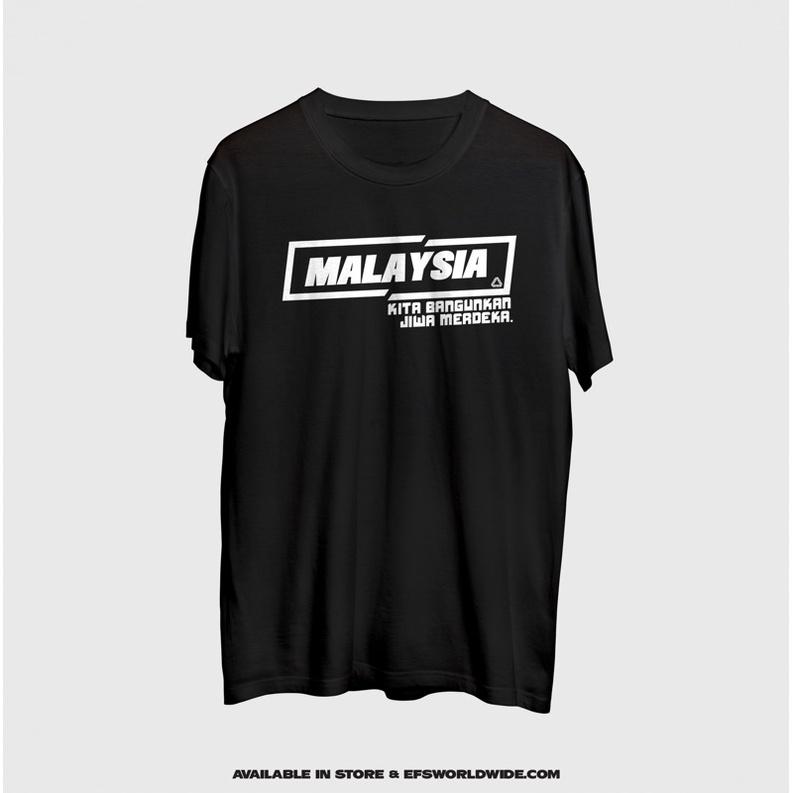 [ NEW ITEM ] T-SHIRT MALAYSIA KITA BANGUNKAN JIWA MERDEKA 100% SUPER COTTON