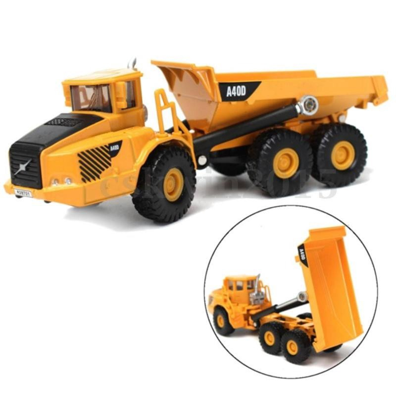 Scale Alloy Dump Truck Diecast Construction Vehicle Cars Lorry Toys Model