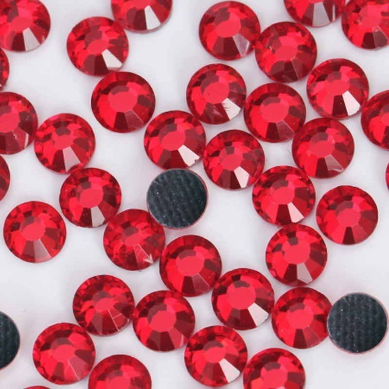 61355fec13 Light red Hotfix Rhinestones Crystals Strass Glass Stone For Clothes  Accessorie