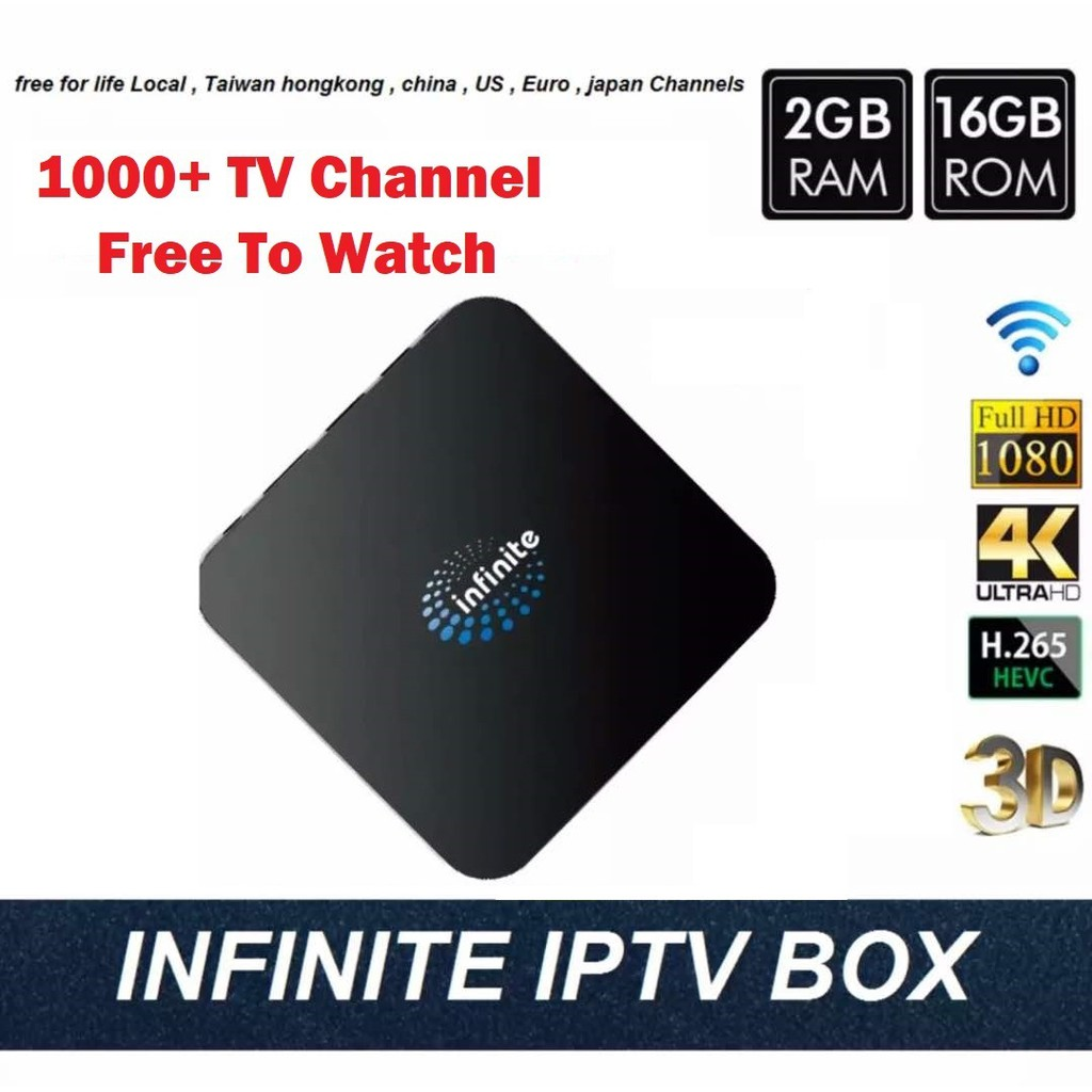 INFINITE IPTV ANDROID TV BOX 4K H 265 WIFI FREE LIFE TIME CHANNEL
