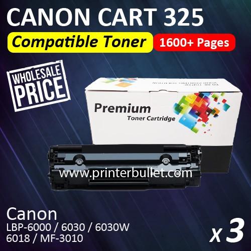 3 unit Canon 325 / Canon Cartridge 325 High Quality Compatible Toner Cartridge