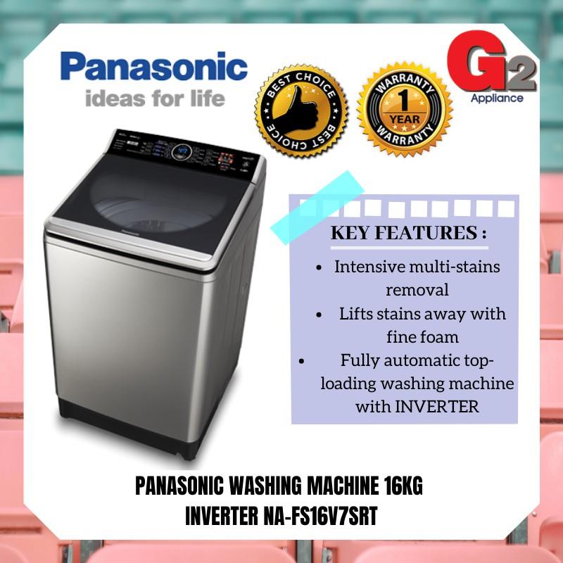 PANASONIC WASHING MACHINE 16KG INVERTER NA-FS16V7SRT