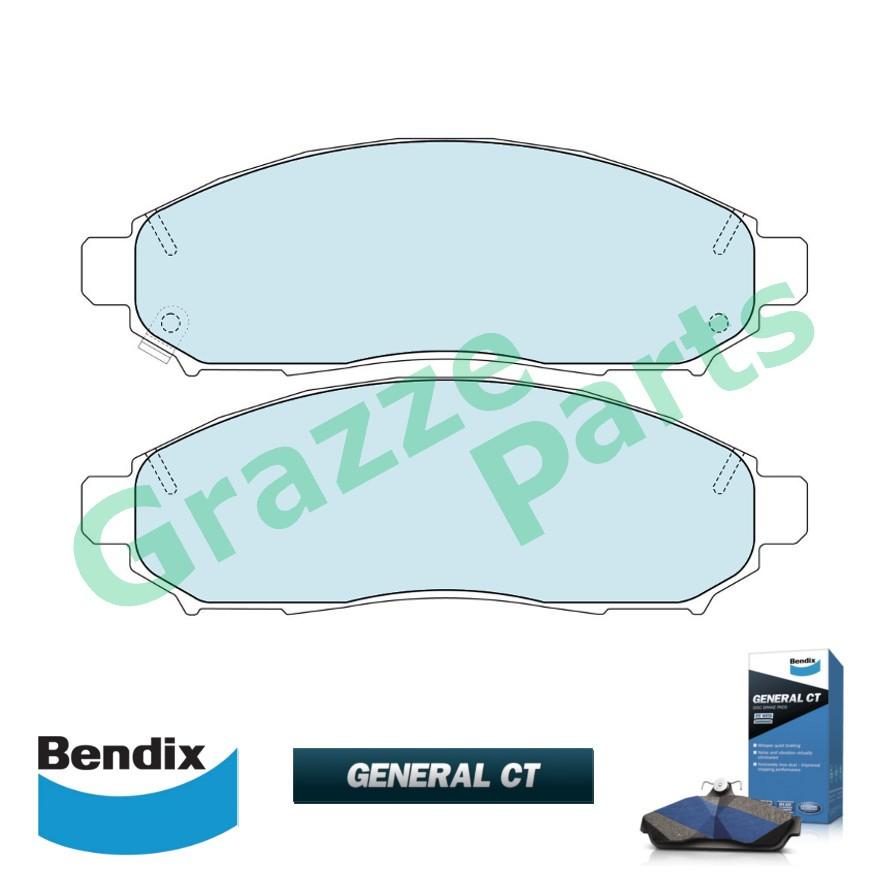 Bendix General CT Brake Pad Front DB1835 - NS Frontier D4D Murano Navara Serena