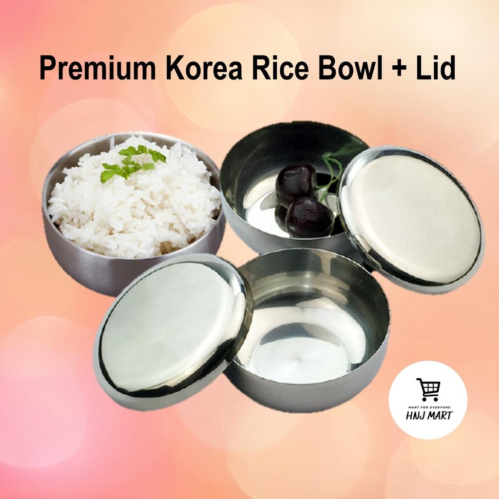 Premium Korea Rice Bowl with Lid / Stainless Steel Korean Rice Bowl 韩式饭碗/韩式不锈钢饭碗/韩式不锈钢碗