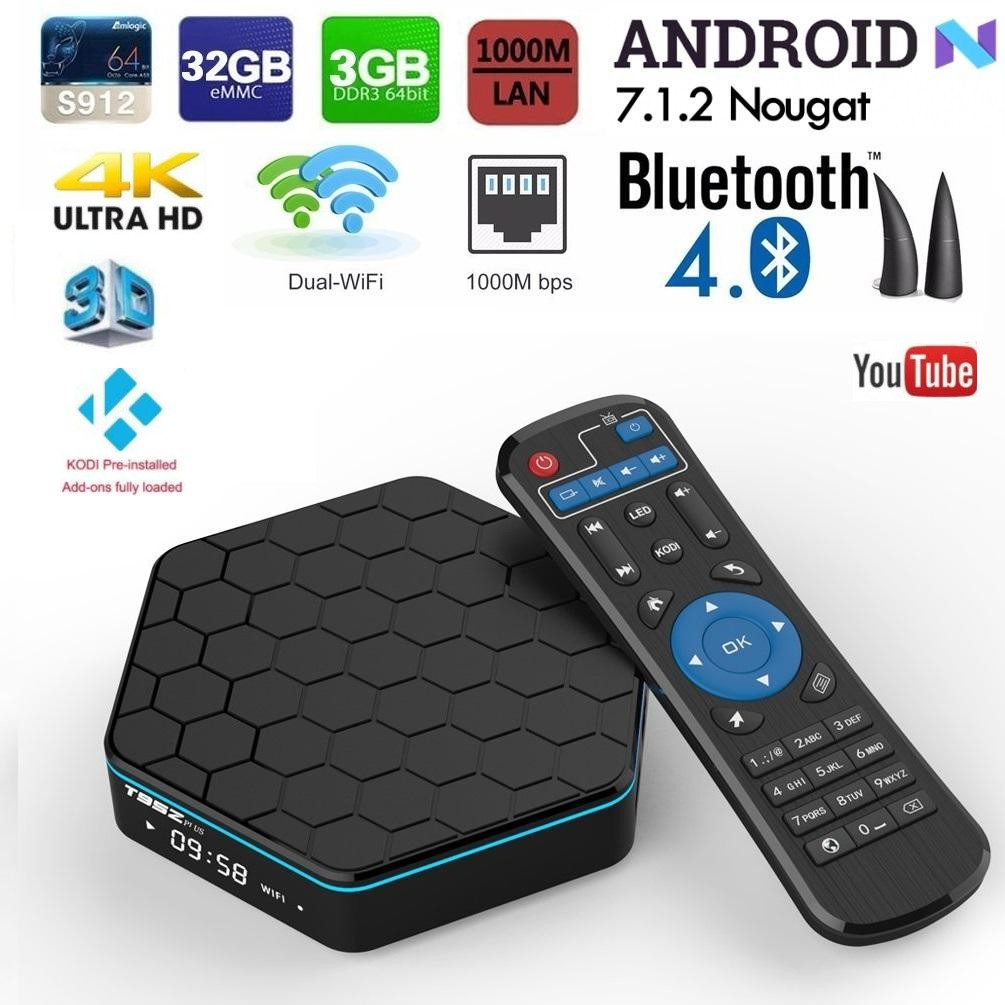 (Free Gift) T95Z Plus 3gb 32gb Android 7 1 Kodi v18 S912 Octacore TV Box  Player