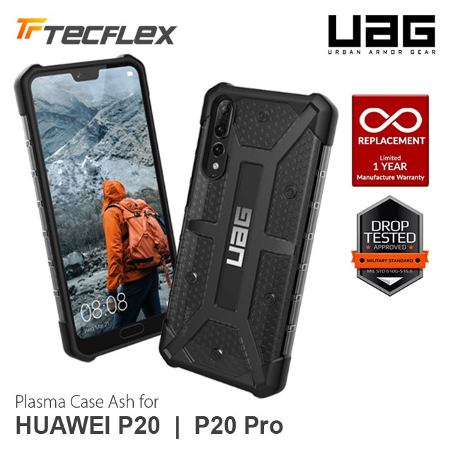 finest selection db527 2b8fb UAG Plasma Case Ash Anti-Shock Hard Case Impact Proof for Huawei P20 / P20  Pro